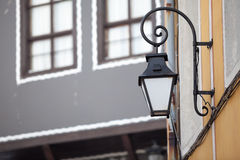 Street lamp in outside photo Royalty Free Stock Photos