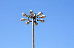 Street lamp over blue sky Stock Photography