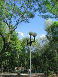 Street lamp in park Royalty Free Stock Photography