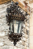 Street lamp from Peles Castle from Sinaia, Romania Stock Photography