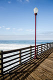 Street lamp on the pier Royalty Free Stock Photos