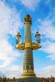Street lamp on the Place de la Concorde in Paris Stock Photos