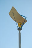 Street lamp post in blue sky background. Beautiful street lamp post in blue sky background Royalty Free Stock Images