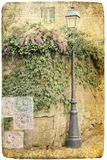 Street lamp postcard Royalty Free Stock Photography