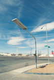 Street lamp on the road Stock Photos