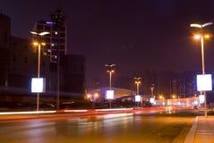 Street lamp in row. On Xinghai Square, Dalian China Stock Image