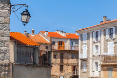 Street lamp in Sartene, Corsica, France Stock Photos