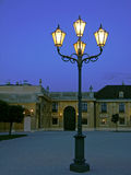 Street lamp and Schoenbrunn Palace, Vienna Royalty Free Stock Photography