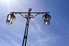 Street Lamp in Setubal, Portugal Royalty Free Stock Photos