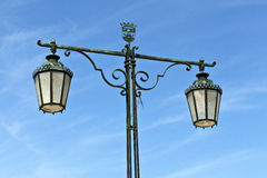 Street Lamp in Setubal, Portugal Royalty Free Stock Photography