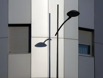 Street lamp and shadow Stock Image