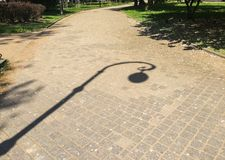 Street lamp shadow Royalty Free Stock Image
