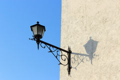 Street lamp and shadow Stock Photo