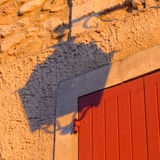 Street lamp shadow Provence France Stock Photo