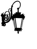 Street lamp silhouette Royalty Free Stock Photos