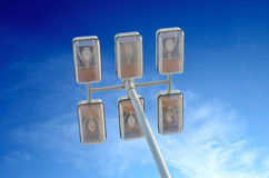 Street lamp with six lamps Royalty Free Stock Photos