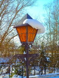 Street lamp with snow Royalty Free Stock Photos