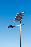 Street Lamp with Solar Panel Stock Photo