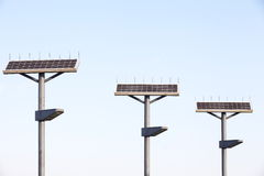 Street Lamp with Solar Panel Royalty Free Stock Image