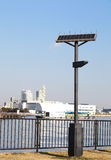 Street Lamp with Solar Panel Royalty Free Stock Images