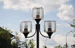Street lamp with square shade Stock Image