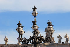 Street lamp in St Peter square Royalty Free Stock Image