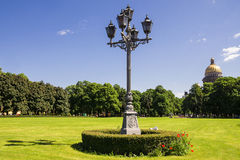 Street lamp in St. Petersburg, Russia.  Royalty Free Stock Photography