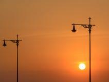 Street lamp at sunset Stock Photography