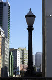 Street lamp, symbol of Sao Paulo city Royalty Free Stock Photography