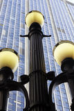 Street lamp, symbol of Sao Paulo Stock Images