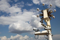 Street lamp in Tiananmen Square in Beijing, China with security cameras Stock Images
