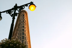 Street Lamp Turned on Royalty Free Stock Photography