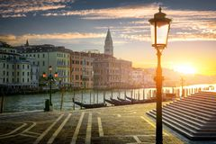 Street lamp in Venice Stock Images