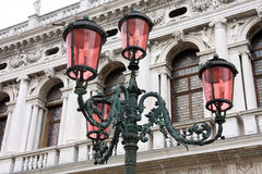 Street lamp in Venice, Italy stock photography