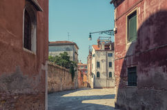 Street lamp of Venice. Old lamp on the venecian streets Royalty Free Stock Photos
