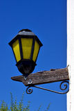 Street lamp  and a wall of house in calle los suspiros Royalty Free Stock Photos
