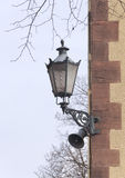 Street lamp on the wall Royalty Free Stock Image