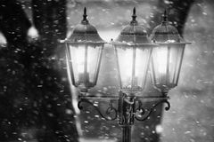 Street lamp in winter Royalty Free Stock Image