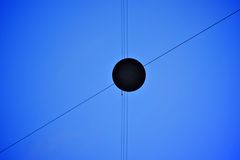 Street lamp and wires Stock Image