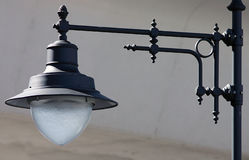 Street lamposts. Close up view of a lampost or street light at a train station in San Juan Royalty Free Stock Photo