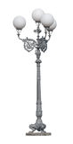 Street lamppost with four lamps royalty free stock photo