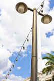 Street lamppost isolated Royalty Free Stock Image