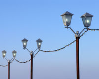 Street lamps Royalty Free Stock Photos