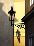 Street lamps. Old street lamps in Prague royalty free stock images