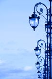 Street lamps in the art deco style Stock Photography