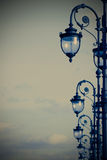 Street lamps in the art deco style Stock Images