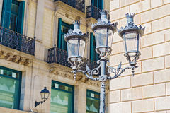 Street lamps in Barcelona, Spain Royalty Free Stock Photography
