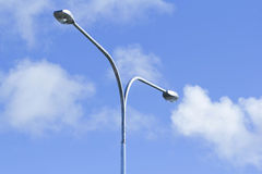 Street lamps. With blue sky in background royalty free stock photography