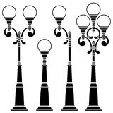 Street lamps collection,lantern Royalty Free Stock Photography