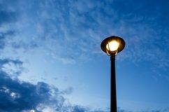 Street lamps. In the evening Stock Image